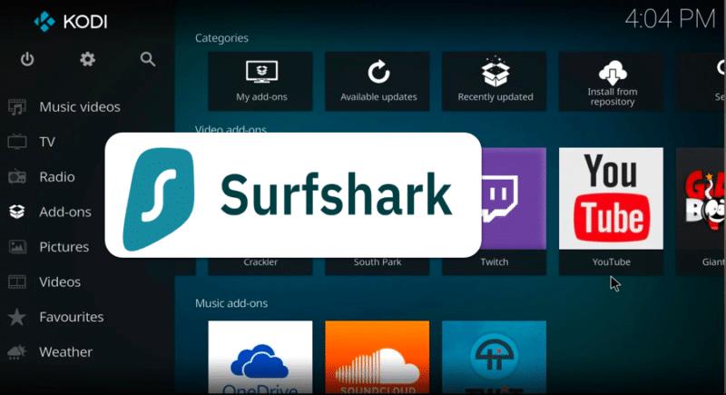 Surfshark VPN zusammen mit KODI verwenden